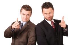2 affärsmän som pekar dig royaltyfri fotografi