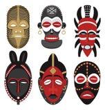 2 afrikanska maskeringar Royaltyfri Foto