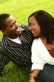 2 afro - amerykanów. szczęśliwa para Zdjęcia Stock