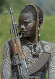 2 afrykanina mursi ludzie Obrazy Royalty Free