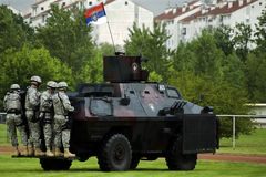 2 akci siły polici serbian dodatek specjalny Fotografia Royalty Free