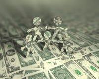 2 akrobatą pieniądze Zdjęcie Stock