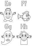 2 alfabetfärgläggningungar Arkivfoton