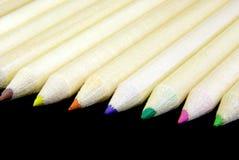 2 alignent des crayons Photo libre de droits