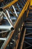 2 alluminium建筑管道 免版税库存图片