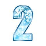 2 alphabet number two winter διανυσματική απεικόνιση