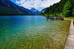 2 alpin lake tirol Royaltyfri Foto