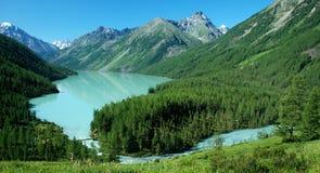 2 altai kucherlinskoe jezioro Zdjęcia Royalty Free