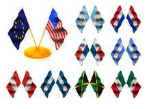 2 amerikanska flaggan vektor illustrationer