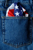 2 amerikanska jeans Arkivbilder