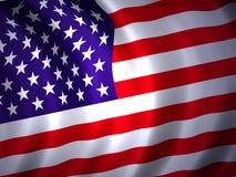 2 amrican flagę Fotografia Stock