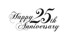 2ö aniversário feliz Imagem de Stock