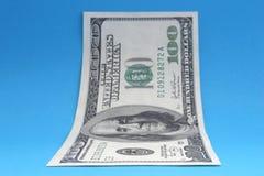 2 anmärkning en för dollar hundra Arkivbilder