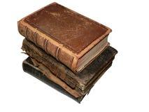 2 antika böcker Arkivfoton