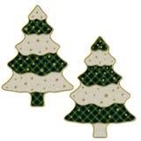 2 arbres de Noël Images stock