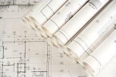 2 arkitekturteckningar Royaltyfria Bilder