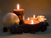 2 aromatiska stearinljus Royaltyfri Bild