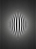 2 art black bulging op stripes vertical white διανυσματική απεικόνιση