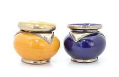 2 ashtrays Стоковые Фото
