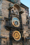 2 astronomical klocka prague Royaltyfri Bild