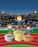 2 atlet zwycięzca ilustracji