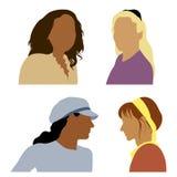 2 avatars royaltyfri illustrationer
