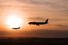 2 avions Photographie stock libre de droits