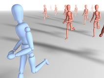 2 away running Απεικόνιση αποθεμάτων