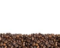 2 bönor border kaffe Fotografering för Bildbyråer