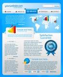 2 błękit szablonu strona internetowa Obraz Stock