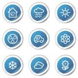 2 błękitny eco ikon serii ustawiają majcher sieć Zdjęcie Royalty Free