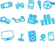 2 błękitny ikony serii technologia Obrazy Royalty Free