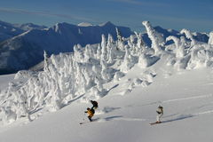 2 backcountry滑雪 库存照片