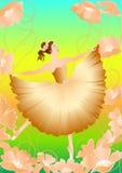 2 balerin kwiat Obraz Stock