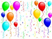 2 ballongkonfettiar Arkivfoton