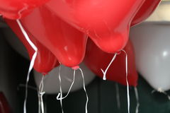 2 ballons καρδιά Στοκ Φωτογραφία