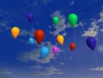 2 ballons воздуха Стоковое Фото