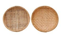 2 bamboo корзины Стоковое Изображение
