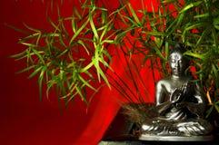 2 bambu budha 库存照片