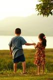 2 barn Fotografering för Bildbyråer