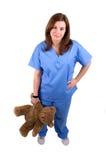 2 barns sjuksköterska Arkivfoto