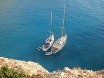 2 bateaux photo libre de droits