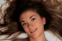 2 beautiful girl hair Στοκ Εικόνα