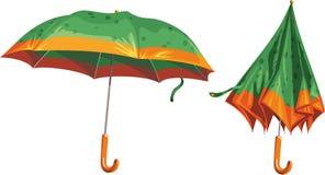 2 beautiful umbrella on a white background Stock Photo