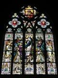 2 befläckte kyrkliga exponeringsglas Arkivfoto