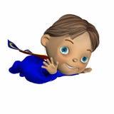 2 behandla som ett barn den superhjälten Royaltyfri Bild