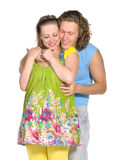 2 behandla som ett barn par som förväntar mode Royaltyfria Bilder