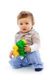 2 behandla som ett barn pojketoyen Royaltyfria Bilder