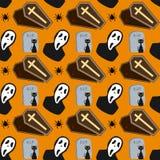 2 bezszwowy Halloween deseniowego Obraz Stock