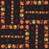 2 bezszwowy jesień deseniowego Zdjęcia Stock